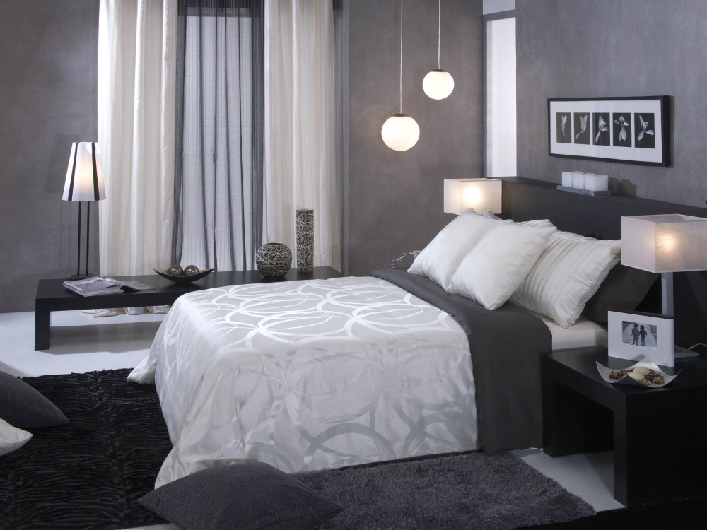 Cortinas grises y blancas finest bonitas cortinas grises for Cortinas turquesas salon