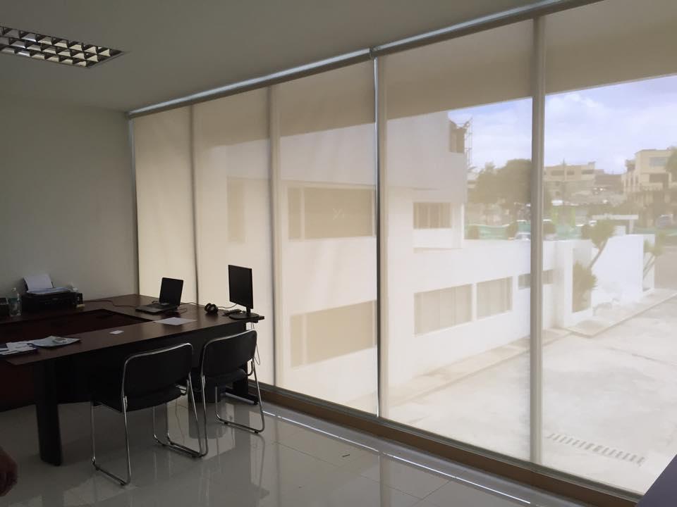Dise os de oficinas con cortinas screen screenvogue - Cortinas de oficina ...